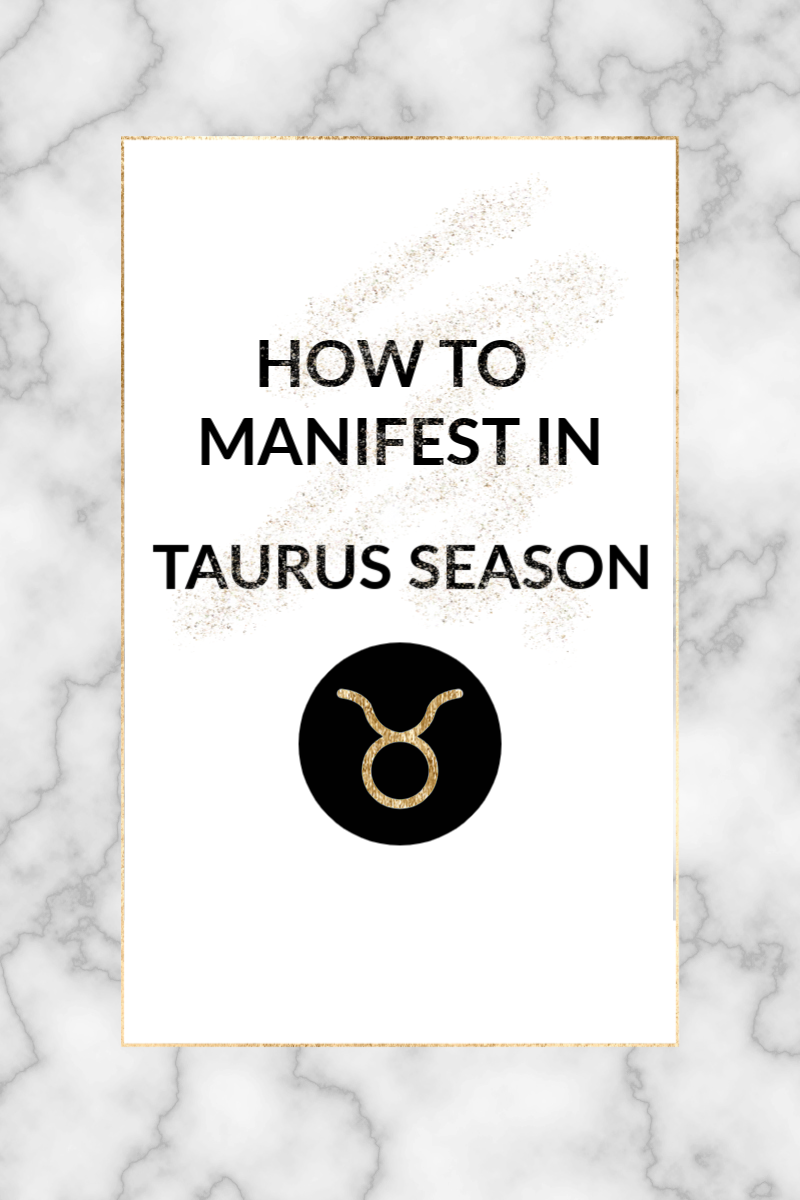 Welcome to Taurus season and a slower pace of life that many of us will gladly welcome. Here is how you can use the energy of sun in Taurus to manifest!